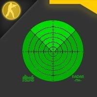 Скачать стандартный зеленый радар в новом стиле для Counter Strike 1.6
