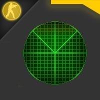 Скачать стандартный зеленый радар в новом стиле для CS 1.6
