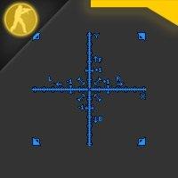 Скачать простой синий радар для Counter Strike 1.6