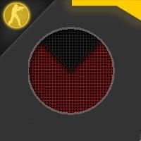 Скачать стандартный радар красного цвета для Counter Strike 1.6