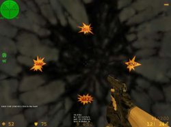 Скачать спрайт получаемого урона в виде желтых вспышек для Counter-Strike 1.6