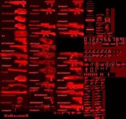 Скачать стандартные красные значки  для Counter Strike 1.6
