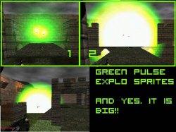 Скачать красивые зеленые вспышки взрыва гранаты для вашей Counter Strike