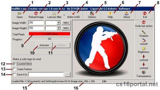 Создание своего Logo через Half-life Logo Creator: cs16portal.net/soft/54-half-life-logo-creator.html
