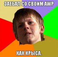 Мемы CS: задрал со своим AWP, как крыса