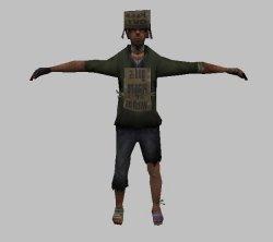 Скачать модель бомжа из GTA SA